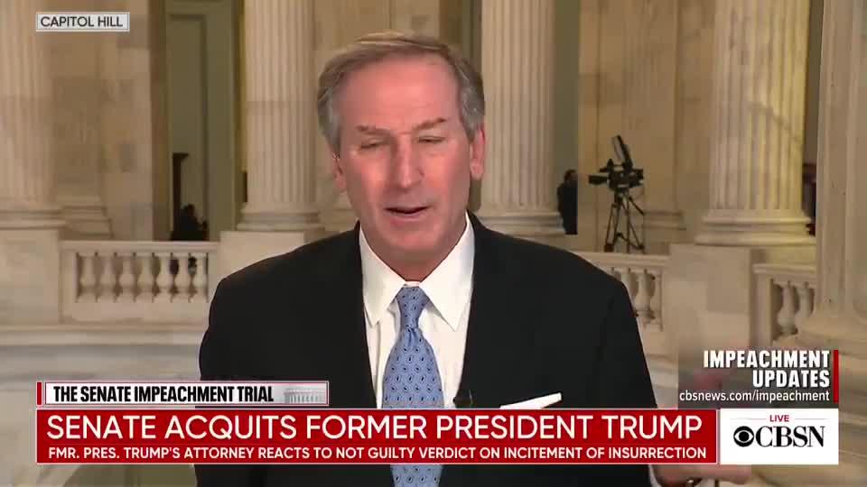 Trump defense attorney Michael van der Veen speaks with CBS News