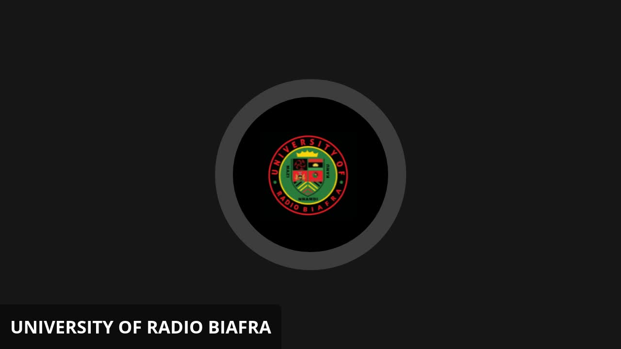 Mazi Nnamdi Kanu - University of Radio Biafra
