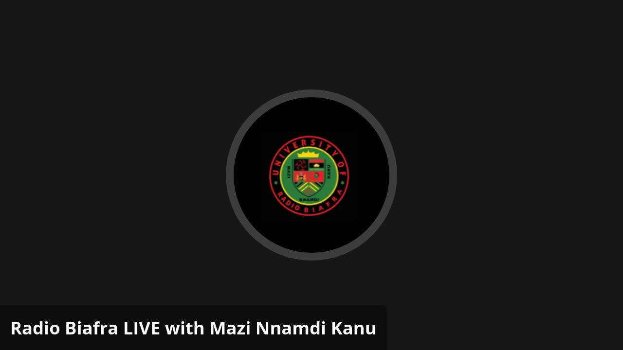 Mazi Nnamdi Kanu - Mazi Nnamdi Kanu LIVE Emergency Broadcast Thurs. 22 April